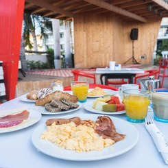 Breakfast at the Atlantic Pool Bar Marina Suites - Canary Islands